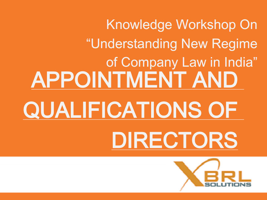 Appointment and disqualification of directors