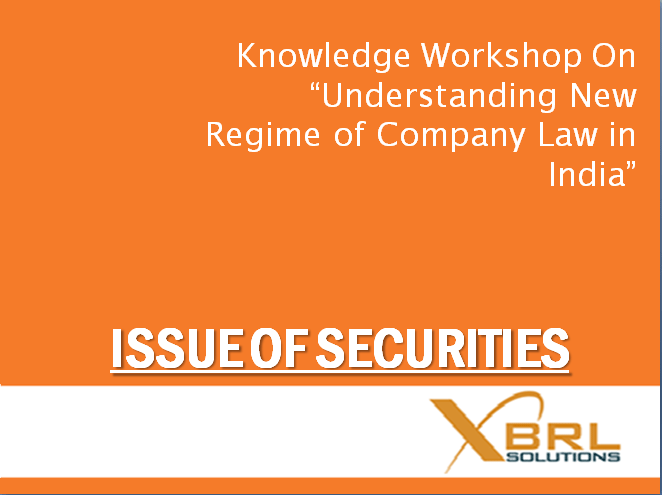 Issue of securities
