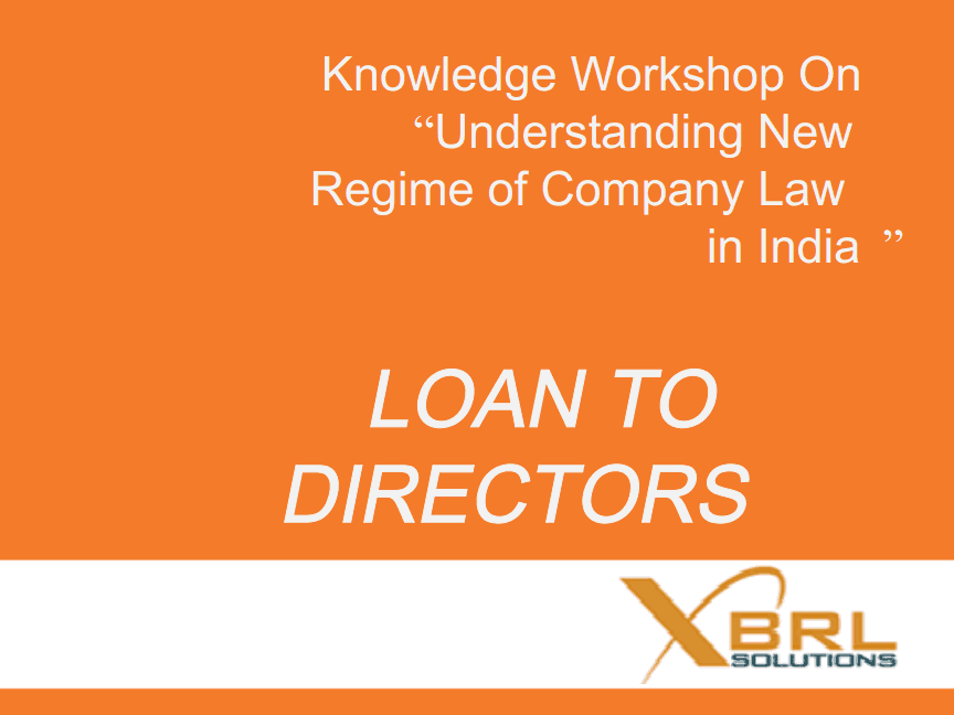 Loan to directors